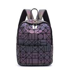 Women Bags Geometric Luminous Backpack Girl School Travel Rucksack Shoulder Bag