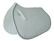 PRI Essential Cotton All-Purpose Show Pad: Quilted, White/Navy