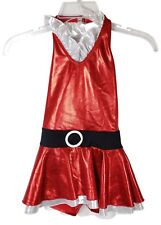 Mrs Clause Christmas Dance Outfit Costume Recitals - Child C10