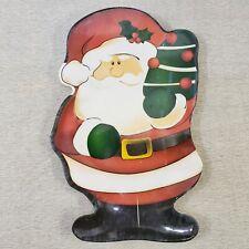 Greenbrier International Decorative Christmas Plate Santa Shaped Cookie Plate