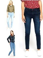 Ladies Ex Zara Sand wash Denim Skinny Spandex Jeans Trouser Plus Size 8 - 18