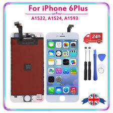 For iPhone 6 Plus Digitizer Touch Screen LCD White Replacement + Genuine IC + UK