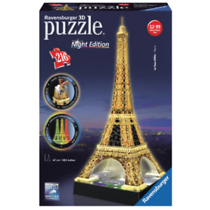 Ravensburger 12579-1 Eiffel Tower at Night 3D Puzzle 216pc Brand New
