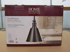 Free Ship, Home Decorators 606372 Cone Pendant Light Fixture Weathered Bronze