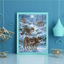 Wolves DIY 5D Full Drill Diamond Painting Embroidery Cross Stitch Home Decor