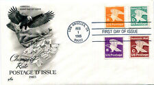 """PREMIUM CACHETED 1985 Postage """"D"""" Postage Rates combo FDC"""