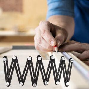 12 Folding Ceramic Tile Hole Locator Adjustable Multi-Angle Ruler Measure Tools