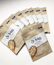 8x New Sealed St. Ives Soothing Oatmeal Sheet Mask 100%Cotton Natural