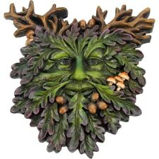 Oak King & Autumn Green Man Wall Plaques Spirit of The Forest Wood Sprite Treant