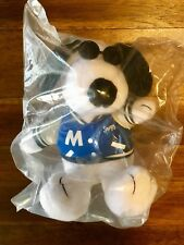 """Peanuts MetLife 6"""" Plush Snoopy Doll Letterman Jacketw/ Glasses Free Shipping!"""