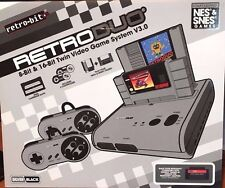 New RetroDuo SNES & NES Dual 2in1 System - Silver/Black