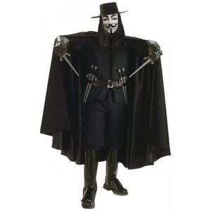 DLX V for Vendetta Cape Costume Accessory Adult Vendetta Halloween