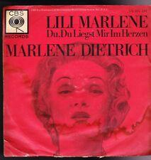 """7"""" Marlene Dietrich Lili Marlene / Du, Du liegst mir im Herzen 60`s CBS CA"""