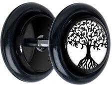 Pair Tree Of Life FAKE GAUGES EARRINGS body jewelry 5108