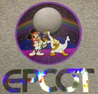 Disney World Epcot Figment Vaporwave Holo Large T-Shirt custom unisex men women