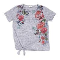 Papaya Womens Size 12 Floral Grey Top (Regular)
