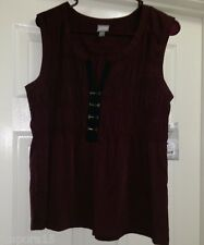 Converse One Star NWT Woman's Burgandy/Black Sleeveless Shirt Size L