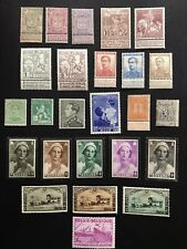 Belgium 1866 - 1940s Collection of Mint Stamps MH