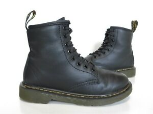 Girls Dr Martens Black leather boots Size UK 13 (eur 32) Exc Cond