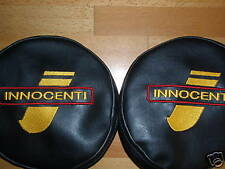 2 LAMBRETTA VESPA INNOCENTI LUCAS PATHFINDER LAMP COVERS EMBROIDERED SX,TV,GP gd