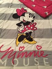 Disney MINNIE MOUSE Pink & Gray Reversible TWIN Comforter