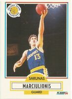 Sarunas Marciulionis Rookie RC Fleer 1990/91 - NBA Basketball Card #65