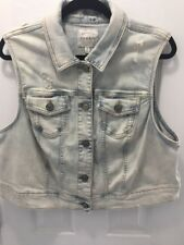 Torrid Women's Plus Size 2x Distressed Denim Vest