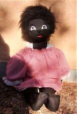 "Vintage Black African Americana Handmade Cloth Rag Doll Folk Art 24"""