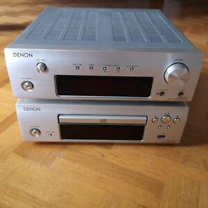 Denon Stereoanlage silber Receiver + CD + Fernbedienung DRA-F107 DCD-F107