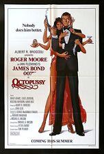 OCTOPUSSY * CineMasterpieces 1SH ORIGINAL MOVIE POSTER 1983 JAMES BOND 007