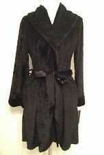 NEW Jones New York Intimates Animal Plush Oversize Collar Wrap Robe 1J172W L/XL