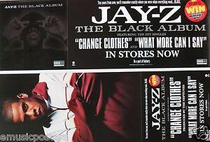 """JAY-Z """"BLACK ALBUM"""" 2-SIDED U.S. PROMO POSTER / BANNER - Hip Hop, Rap Legend"""