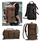 Men's Vintage Canvas backpack Rucksack laptop shoulder travel Hiking Camping bag