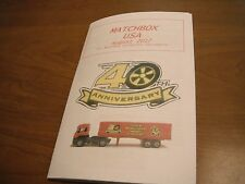 Matchbox USA Club Magazine- Sample Copy. Lesney/Superfast/New, etc.
