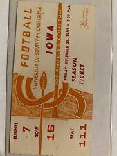 RARE VINTAGE 1950 TICKET STUB NCAA FOOTBALL USC TROJANS SOUTHERN CALIFORNIA IOWA