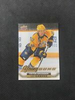 2015-16 UPPER DECK SERIES TWO VIKTOR ARVIDSSON ROOKIE YOUNG GUNS CANVAS #C218