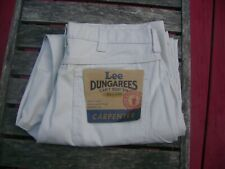 NWT Lee Dungarees Carpenter Loose Straight Beige Work Jeans Men's 34 x 30 NICE