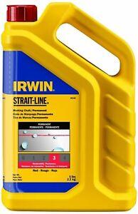 IRWIN STRAIT-LINE Marking Chalk, Standard, Red, 5 lbs. (65102)
