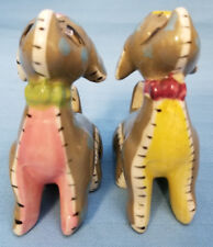 Copper Falls State Park Mellen Wis. Souvenir Salt & Pepper Puppy Dogs 3.5""
