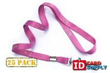 "Pink 3/8"" Breast Cancer Awareness Lanyards with Swivel Hook 