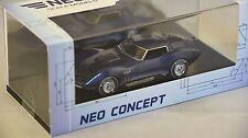NEO 43705 - Chevrolet Corvette Mako Shark II bleu métallisé - 1965  1/43