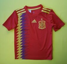 5/5 Spain soccer kids jersey 7-8 years 2018 home shirt Br2713 Adidas ig93