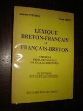LEXIQUE BRETON-FRANÇAIS ET FRANÇAIS-BRETON - 1979 - Bretagne Linguistique