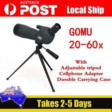 GOMU Angled 20-60x60 Zoom Spotting Scopes Monocular+Tripod+Phone Adapter+Case