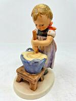 "Hummel Goebel Baking Day Kneading Dough Figurine 330 TMK-6 H5.5"" Signed No Box"