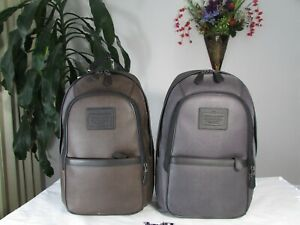NWT Coach Men's PVC Printed Backpack F71995 Charcoal or Espresso