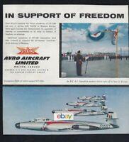AVRO A.V.ROE CANADA LTD MALTON,ONTARIO 1957 CF-100'S RCAF SUPPORT OF FREEDOM AD