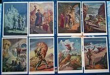 1966 Soviet set of postcards Knight in panther's skin Rustaveli art. Toidze 025