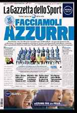 GAZZETTA DELLO SPORT 12/06/2014 FACCIAMOLI AZZURRI GIUGNO MONDIALI AZZURRA BLU