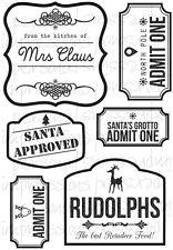 Sarah Hurley Christmas Label Stamps